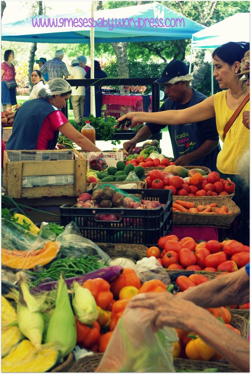 Un lindo mercado organico en La Molina