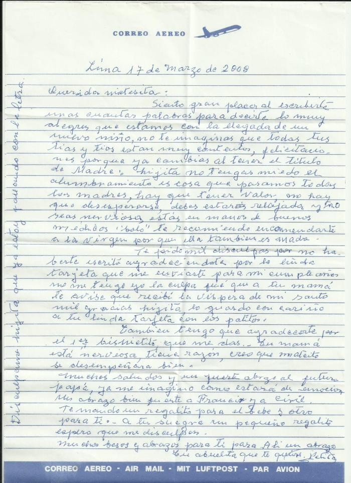 carta de nonnita petita